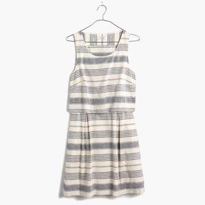 NWOT Madewell Striped Open-Back Overlay Dress